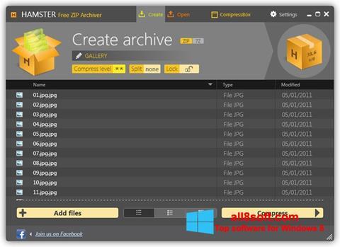Screenshot Hamster Free ZIP Archiver para Windows 8