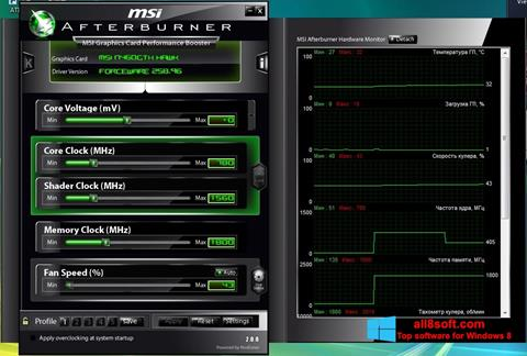 Screenshot MSI Afterburner para Windows 8