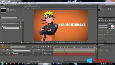 Screenshot Adobe After Effects para Windows 8