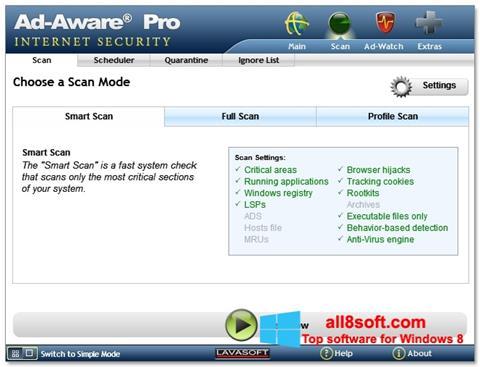 Screenshot Ad-Aware para Windows 8