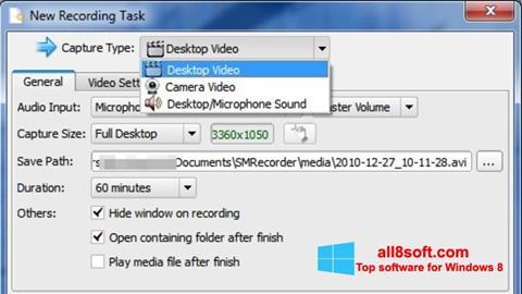 Screenshot SMRecorder para Windows 8