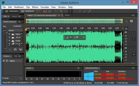 Screenshot Adobe Audition CC para Windows 8
