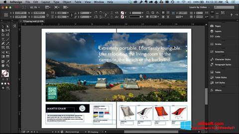 Screenshot Adobe InDesign para Windows 8
