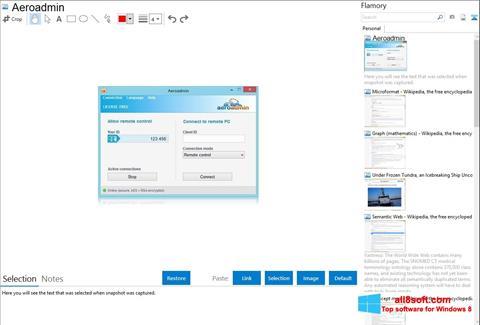 Screenshot AeroAdmin para Windows 8