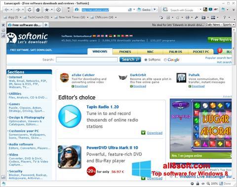 Screenshot Lunascape para Windows 8
